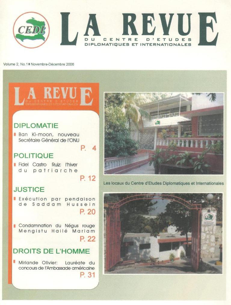 Revue Du Cedi