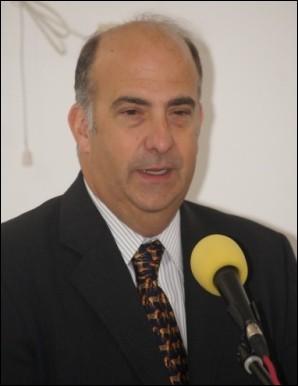 Kenneth Merten, l'ambassadeur des États-Unis d'Amérique accrédité à Port-au-Prince, dans son intervention au cours de sa visite au CEDI