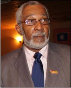 Le professeur Daniel Supplice, représentant du chef de l'État haïtien